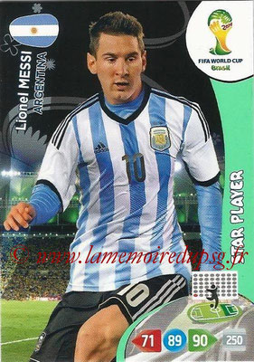 2014 - Panini FIFA World Cup Brazil Adrenalyn XL - N° 018 - Lionel MESSI (Argentine) (Star Player)