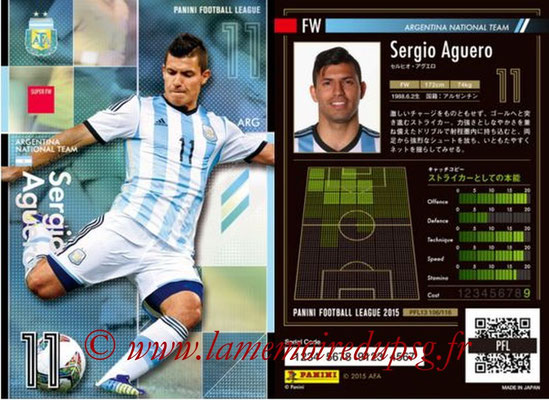 Panini Football League 2015 - PFL13 - N° 106 - Sergio AGUERO (Argentine) (Super FW)