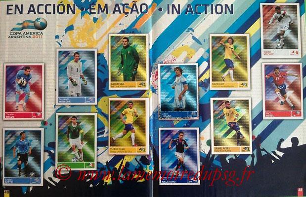 Panini Copa América Argentina 2011 - Pages 40 et 41 - En action