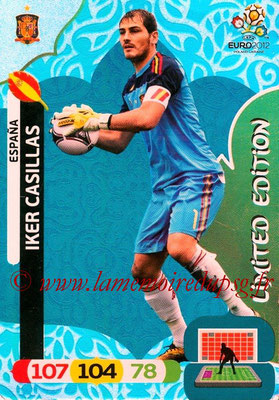 Panini Euro 2012 Cards Adrenalyn XL - N° LE18 - Iker CASILLAS (Espagne) (Limited Edition)