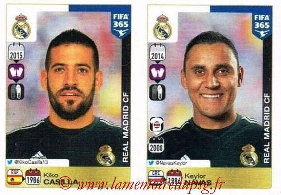 2015-16 - Panini FIFA 365 Stickers - N° 372-373 - Kiko CASILLA + Keylor NAVAS (Real Madrid CF)
