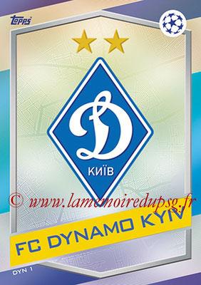2016-17 - Topps UEFA Champions League Match Attax - N° DYN1 - Logo FC Dynamo Kiev
