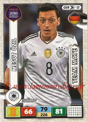 2018 - Panini Road to FIFA World Cup Russia Adrenalyn XL - N° GER12 - Mesut ÖZIL (Allemagne)