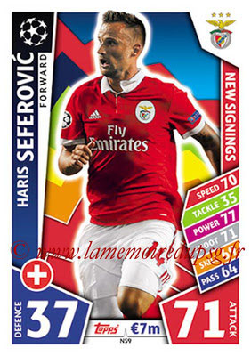 2017-18 - Topps UEFA Champions League Match Attax - N° NS09 - Haris SEFEROVIC (SL Benfica) (New Signings)