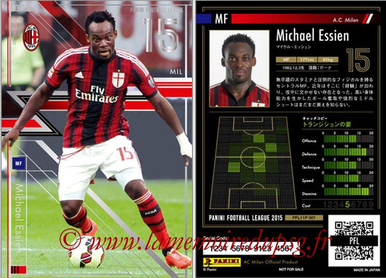 Panini Football League 2015 - PFL11P - N° 001 - Michael ESSIEN (Milan AC) (Star)