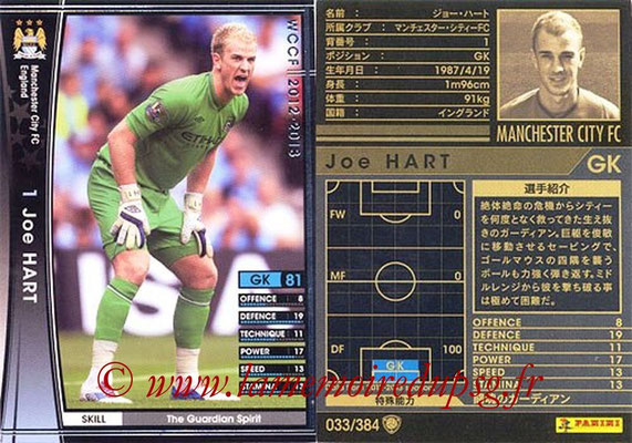 2012-13 - WCCF - N° 033 - Joe HART (Manchester City FC)