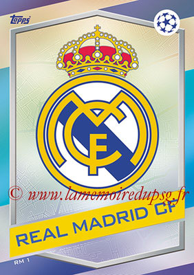 2016-17 - Topps UEFA Champions League Match Attax - N° RM1 - Logo Real Madrid CF