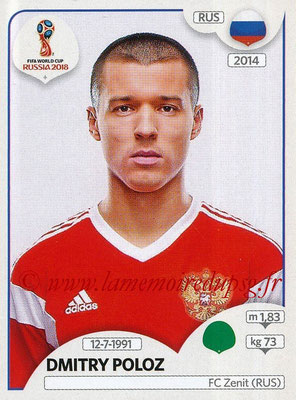 2018 - Panini FIFA World Cup Russia Stickers - N° 049 - Dmitry POLOZ (Russie)