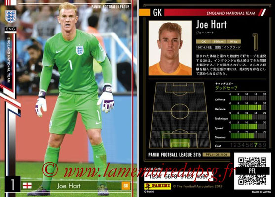 Panini Football League 2015 - PFL11 - N° 081 - Joe HART (Angleterre)