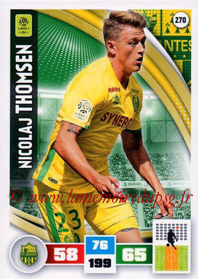 2016-17 - Panini Adrenalyn XL Ligue 1 - N° 270 - Nicolaj THOMSEN (Nantes)