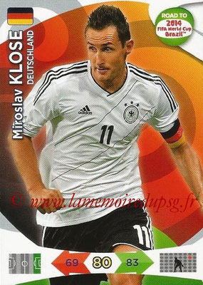 2014 - Panini Road to FIFA World Cup Brazil Adrenalyn XL - N° 059 - Miroslav KLOSE (Allemagne)