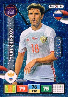 2018 - Panini Road to FIFA World Cup Russia Adrenalyn XL - N° RUS14 - Yuri ZHIRKOV (Russie) (Expert)