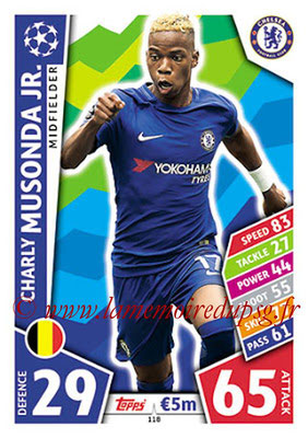 2017-18 - Topps UEFA Champions League Match Attax - N° 118 - Charly MUSONDA Jr.(Chelsea FC)