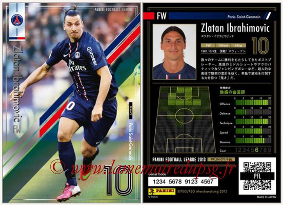 Panini Football League 2013 - PFL04 - N° 071 - Zlatan IBRAHIMOVIC (Paris Saint-Germain)