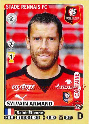 2015-16 - Panini Ligue 1 Stickers - N° 388 - Sylvain ARMAND (Stade Rennais FC) (Capitaine)