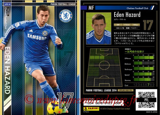 Panini Football League 2014 - PFL08 - N° 160 - Eden HAZARD (Chelsea FC) (Super MF)