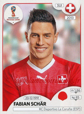 2018 - Panini FIFA World Cup Russia Stickers - N° 380 - Fabien SCHÄR (Suisse)