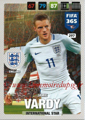 2016-17 - Panini Adrenalyn XL FIFA 365 - N° 297 - Jamie VANDY (Angleterre) (International Star)