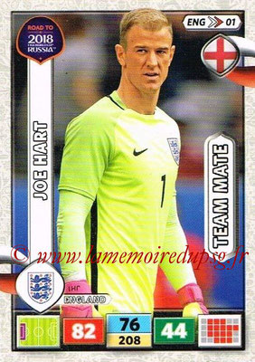 2018 - Panini Road to FIFA World Cup Russia Adrenalyn XL - N° ENG01 - Joe HART (Angleterre)