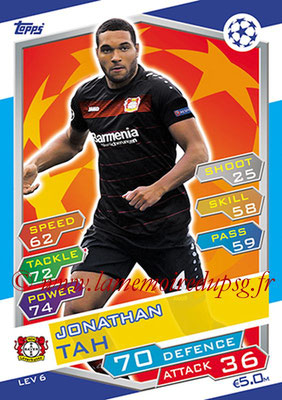 2016-17 - Topps UEFA Champions League Match Attax - N° LEV6 - Jonathan TAH (Bayer 04 Leverkusen)