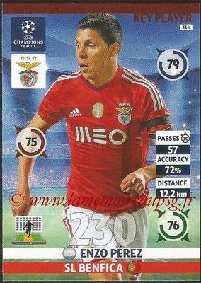 2014-15 - Adrenalyn XL champions League N° 314 - Enzo PEREZ (SL Benfica) (Key Player)