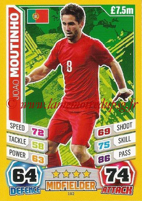 Topps Match Attax England 2014 - N° 192 - Joao MOUTINHO (Portugal)