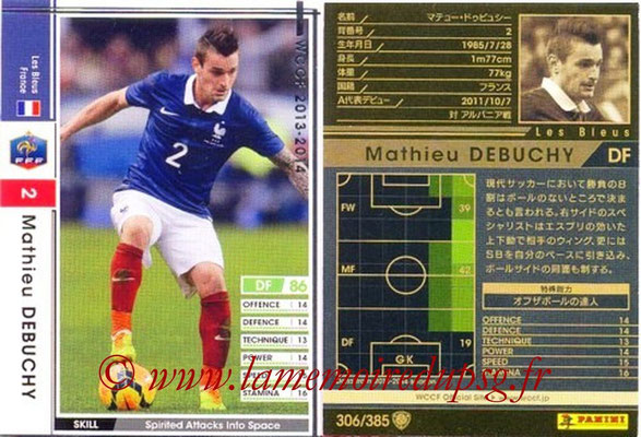 2013-14 - WCCF - N° 306 - Mathieu DEBUCHY (France)