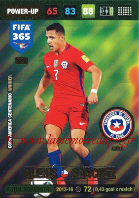 2016-17 - Panini Adrenalyn XL FIFA 365 - N° 378 - Alexis SANCHEZ (Chili) (Goal Machine)