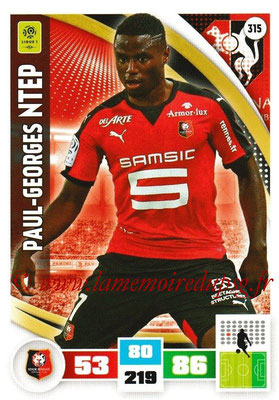 2016-17 - Panini Adrenalyn XL Ligue 1 - N° 315 - Paul-Georges NTEP (Rennes)