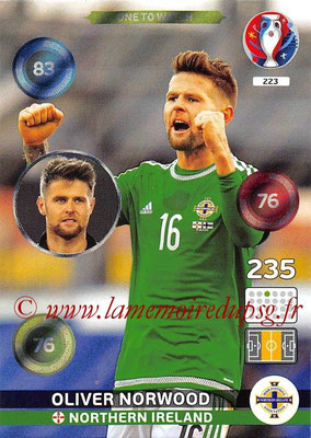 Panini Euro 2016 Cards - N° 223 - Oliver NORWOOD (Irlande du Nord) (One To Watch)