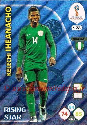 2018 - Panini FIFA World Cup Russia Adrenalyn XL - N° 428 - Kelechi IHEANACHO (Nigeria) (Rising Star)