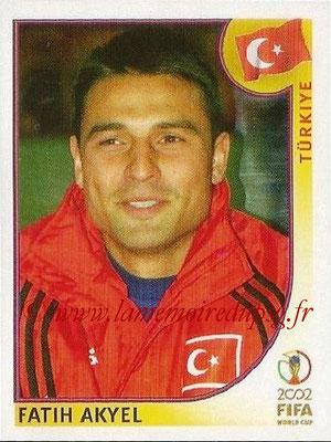 2002 - Panini FIFA World Cup Stickers - N° 190 - Fatih AKYEL (Turquie)