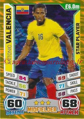 Topps Match Attax England 2014 - N° 074 - Antonio VALENCIA (Equateur)
