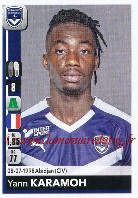 2018-19 - Panini Ligue 1 Stickers - N° 071 - Yann KARAMOH (Bordeaux)