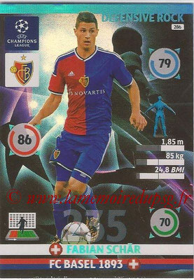 2014-15 - Adrenalyn XL champions League N° 286 - Fabian SCHAR (FC Basel 1893) (Defensive Rock)