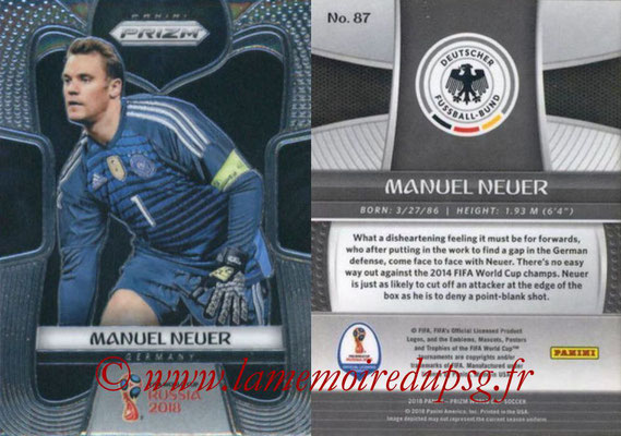 2018 - Panini Prizm FIFA World Cup Russia - N° 087 - Manuel NEUER (Allemagne)