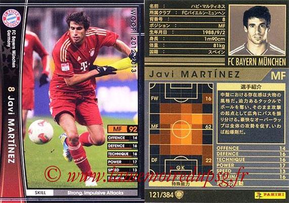 2012-13 - WCCF - N° 121 - Javi MARTINEZ (FC Bayern Munich)
