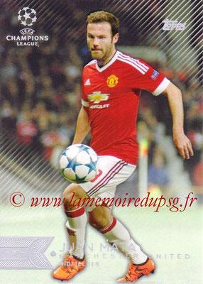 2015-16 - Topps UEFA Champions League Showcase Soccer - N° 037 - Juan MATA (Manchester United FC)