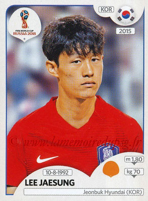 2018 - Panini FIFA World Cup Russia Stickers - N° 507 - Lee JAESUNG (Corée du Sud)