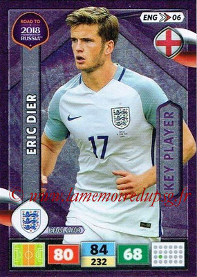 2018 - Panini Road to FIFA World Cup Russia Adrenalyn XL - N° ENG06 - Eric DIER (Angleterre) (Key Player)