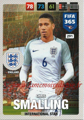 2016-17 - Panini Adrenalyn XL FIFA 365 - N° 291 - Chris SMALLING (Angleterre) (International Star)