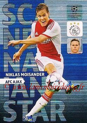 2013-14 - Adrenalyn XL champions League N° NE02 - Niklas MOISANDER (AFC Ajax) (Scandinavian Star) (Nordic edition)