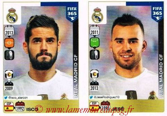 2015-16 - Panini FIFA 365 Stickers - N° 397-398 - ISCO + JESE (Real Madrid CF)
