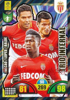 2018-19 - Panini Adrenalyn XL Ligue 1 - N° 437 - Radamel FALCAO + Rony LOPES + Keita BALDE (Monaco) (Trio Infernal)