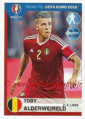 Panini Road to Euro 2016 Stickers - N° 005 - Toby ALDERWEIRELD (Belgique)