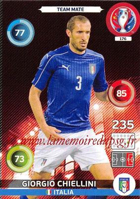 Panini Euro 2016 Cards - N° 176 - Giorgio CHIELLINI (Italie)