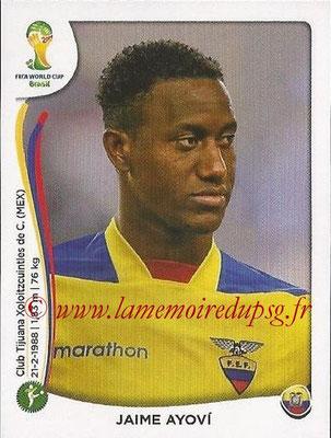 2014 - Panini FIFA World Cup Brazil Stickers - N° 373 - Jaime AYOVI (Equateur)