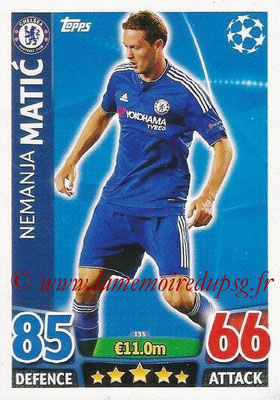 2015-16 - Topps UEFA Champions League Match Attax - N° 135 - Nemanja MATIC (Chelsea FC)