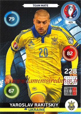 Panini Euro 2016 Cards - N° 429 - Yaroslav RAKITSKIY (Ukraine)