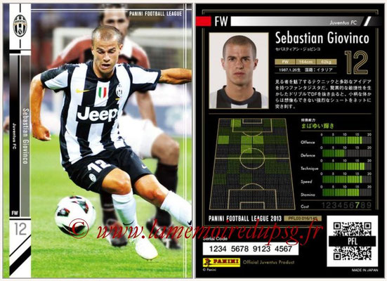 Panini Football League 2013 - PFL03 - N° 016 - Sebastian Giovinco (Juventus FC)